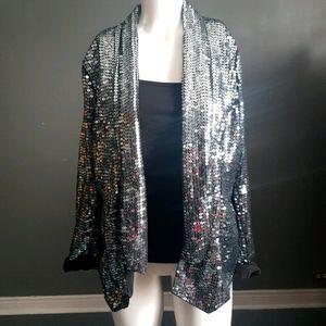 💖Host Pick💖 Adamo vintage sparkly silver blazer